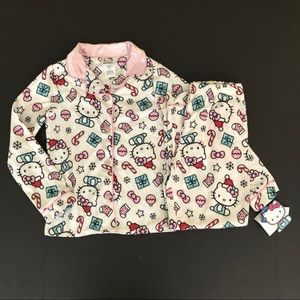 Hello kitty pajamas M 7/8 Christmas